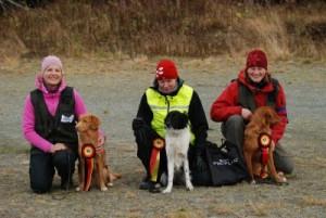 Klasse 1: Fra venstre: Elisabeth Stene, Gudrun Hovstein og Johanna Jarnegren