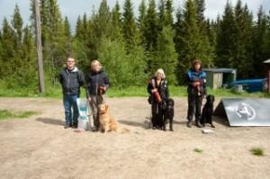 Klasse II fra venstre: Stein Feragen (dommer), Emma Båtnes, Inger Rønsberg, Kristin Estenstad.