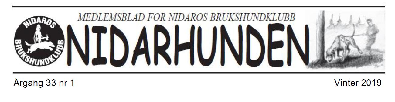 Sommerutgave av medlemsbladet Nidarhunden